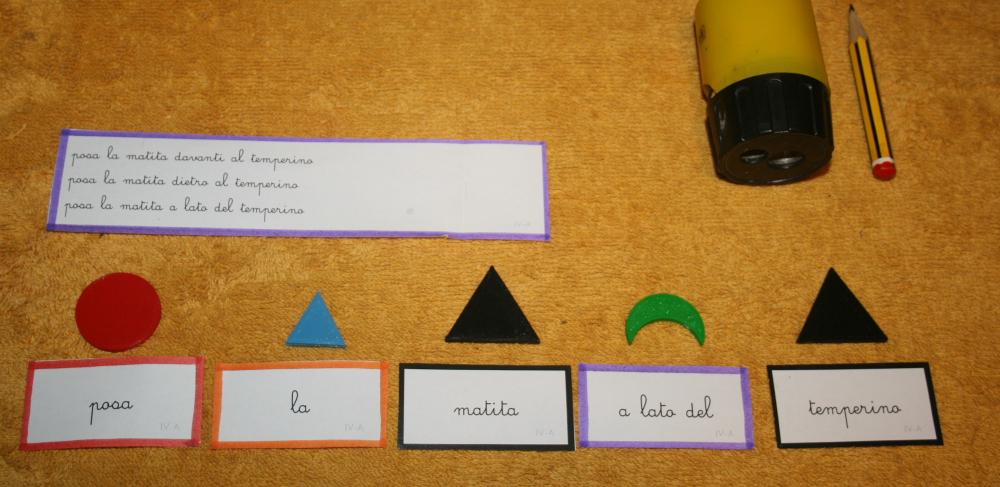 Scatola grammaticale IV esercizi – Psicogrammatica Montessori