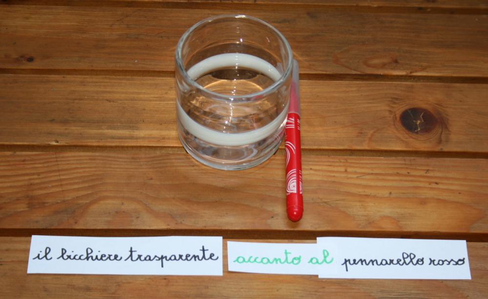 preposizioni Montessori 1