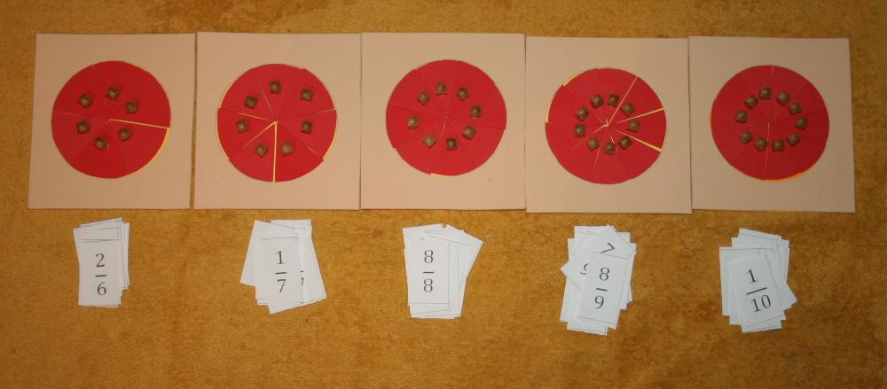 Incastri delle frazioni Montessori PRESENTAZIONI ED ESERCIZI