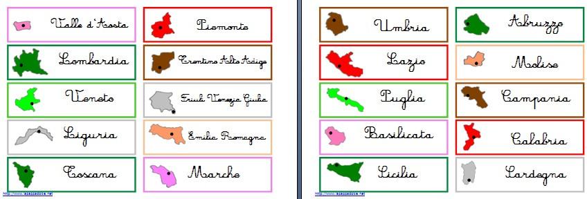 Cartina Dellitalia Politica Con Capoluoghi.Materiali Stampabili Per L Incastro Dell Italia Montessori Lapappadolce