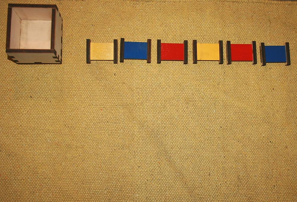 Spolette dei colori Montessori PRIMA SERIE