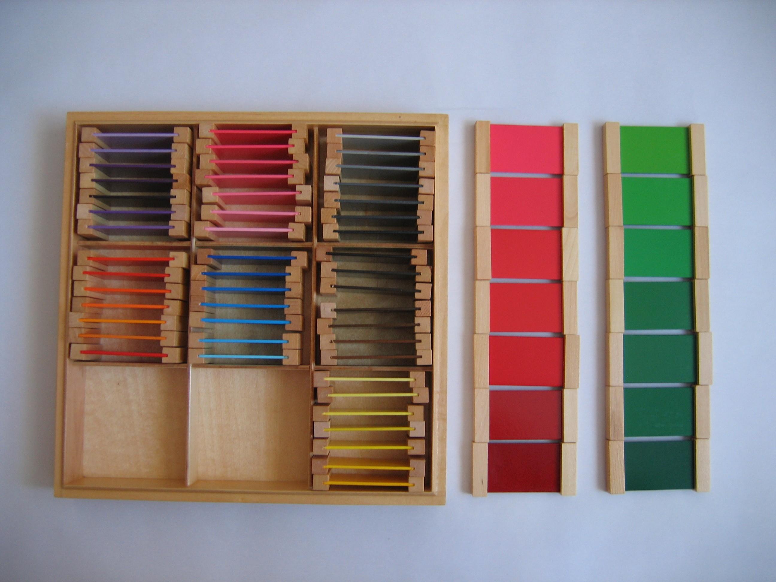 Spolette dei colori Montessori TERZA SERIE