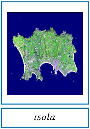 Nomenclature delle forme della terra (litosfera)