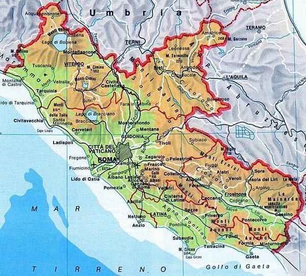 Lazio: materiale didattico, dettati e letture