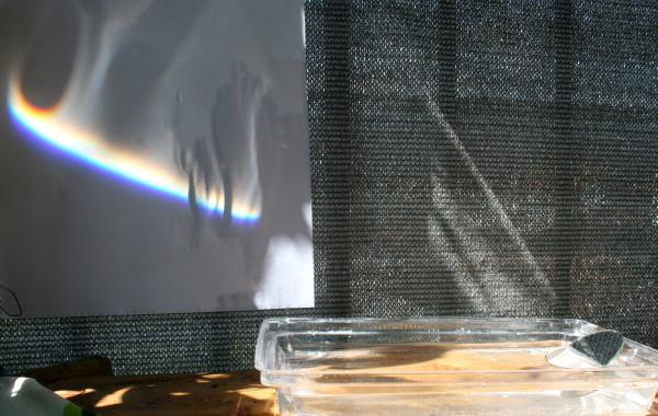 Esperimento scientifico: l'arcobaleno in una stanza