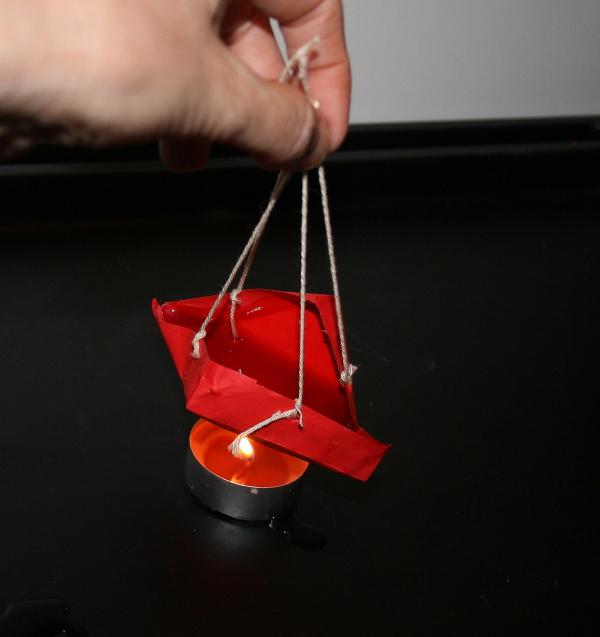 Esperimento scientifico: oggetti ignifughi