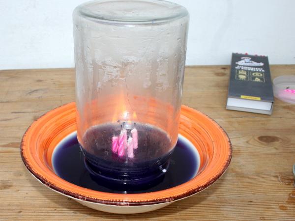 Esperimento scientifico: una candela che succhia l'acqua