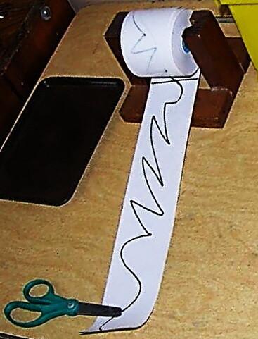 Montessori progettato striscia di carta